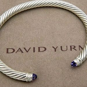 David Yurman 5mm Amethyst Diamonds Cable Bracelet